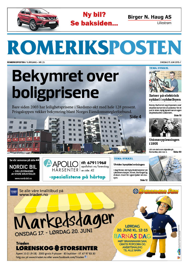Romeriksposten-uke25-forside