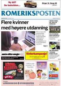 Romeriksposten - uke 14, 2016 - forside